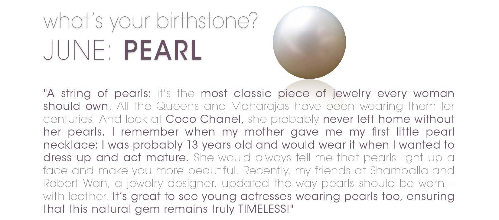 What's your birthstone: June: Pearls – Charriol - Official ...