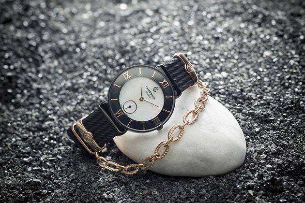 St-Tropez Watch Black rubber by Charriol