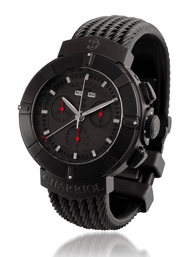 All-black watches Charriol