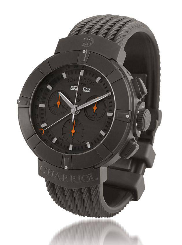 All-grey watch - Charriol Celtica Chrono Stealth