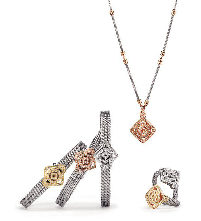 Charriol Jewellery Collection Square and Circle Timeless Elements Line