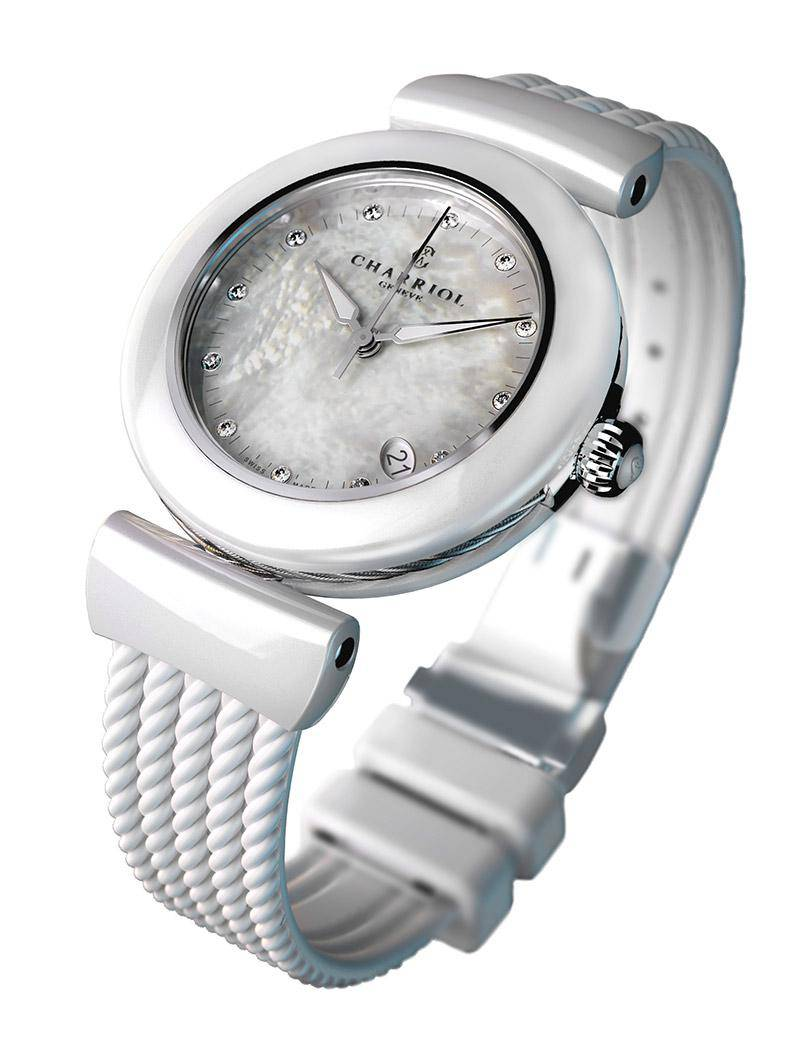 AEL Watch white ceramic Charriol