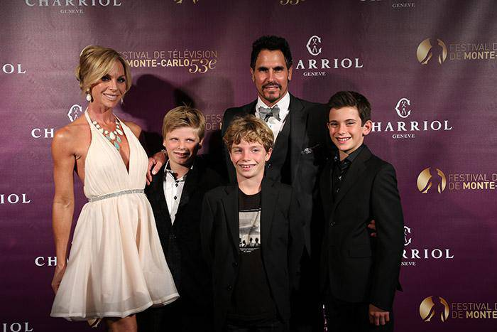 Don Diamont and his family Monte Carlo Television Festival Charriol