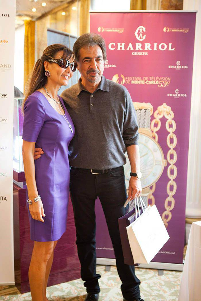 Marie-Olga Charriol and Joe Mantegna Criminal Minds Festival Television Monte Carlo