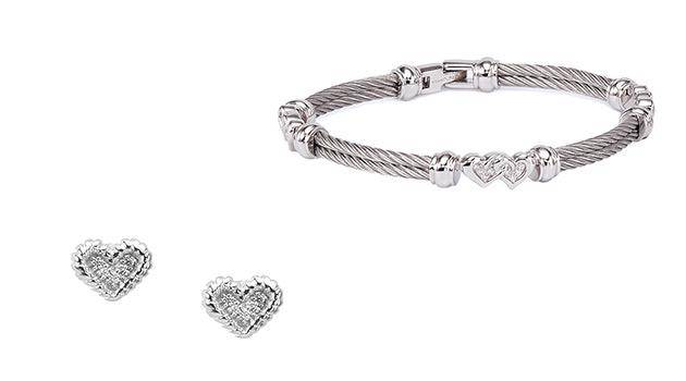 Cherie-amour-jewelry-Charriol-cable-bangle-earrings