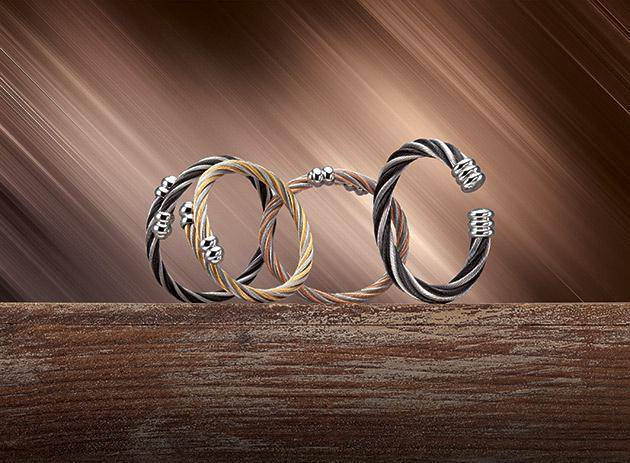 wire fashion vintage stainless cable product titanium bracelet bangle crystal rhinestone steel magnetic full ball bangles