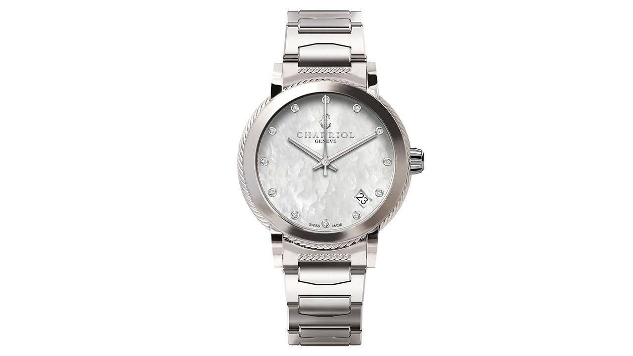 CHARRIOL-Watch-Lady-PARISII-26mm-Steel-White-MOP