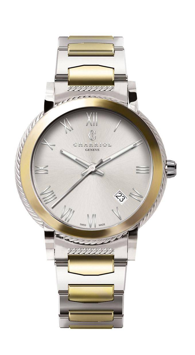 CHARRIOL-Watch-Man-PARISII-40mm-Steel-&-Yellow-Gold-Silver