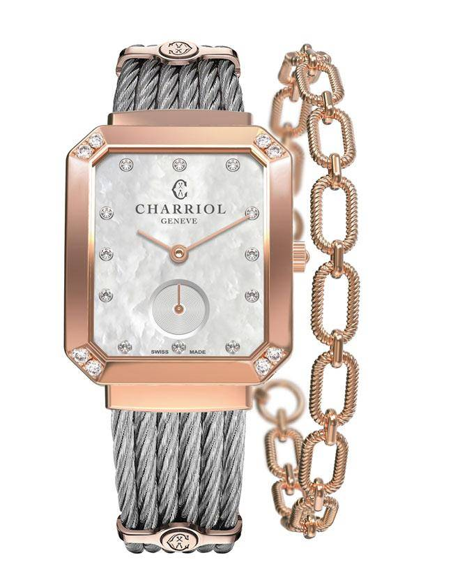CHARRIOL-Lady-ST-TROPEZ-Mansart-Rose-Gold-with-8-diamonds