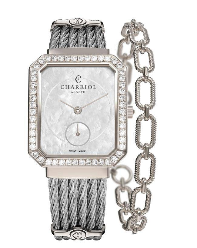 CHARRIOL-Lady-ST-TROPEZ-Mansart-Steel-with-62-diamonds