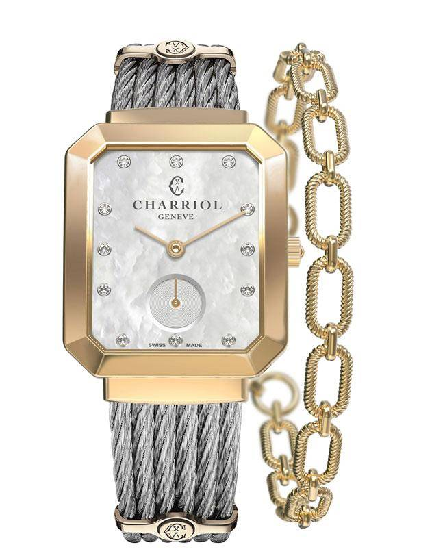 CHARRIOL-Lady-ST-TROPEZ-Mansart-Yellow-Gold
