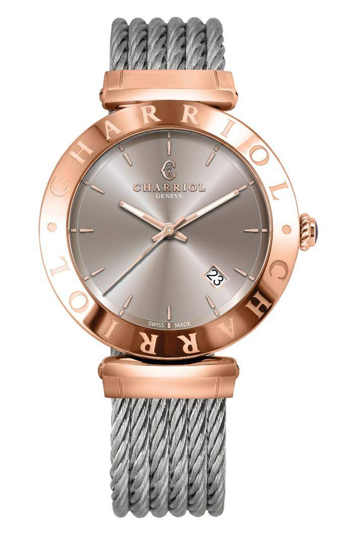CHARRIOL-Watch-Man-ALEXANDRE-C-Pink-Gold-Havane