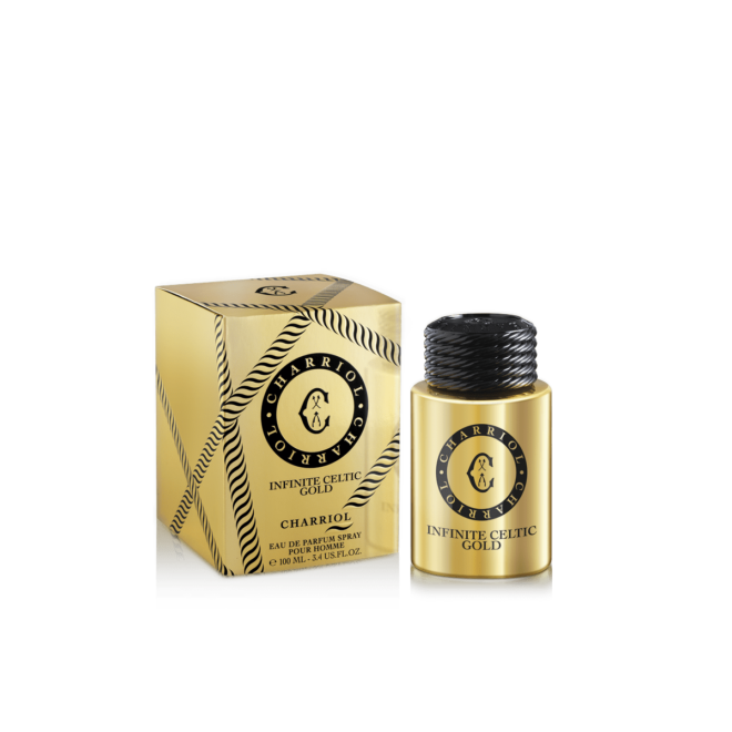 Charriol Infinite Celtic Gold bottle and Box